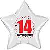14TH BIRTHDAY STAR BALLOON PARTY SUPPLIES
