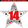 14TH SILVER STAR DECORATION PARTY SUPPLIES