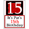 PERSONALIZED 15 YEAR OLD YARD SIGN PARTY SUPPLIES