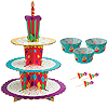 CELEBRATION CUPCAKE STAND KIT PARTY SUPPLIES