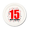 15TH BIRTHDAY DESSERT PLATE 8-PKG PARTY SUPPLIES