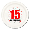 15TH BIRTHDAY DINNER PLATE 8-PKG PARTY SUPPLIES