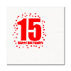 15TH BIRTHDAY LUNCHEON NAPKIN 16-PKG PARTY SUPPLIES