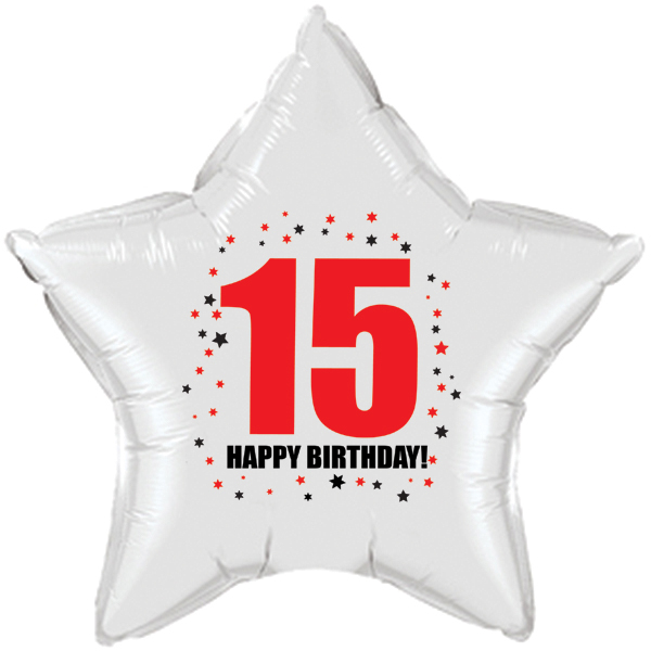 Click For Larger Picture Of 15TH BIRTHDAY STAR BALLOON PARTY SUPPLIES