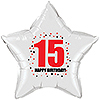 15TH BIRTHDAY STAR BALLOON PARTY SUPPLIES