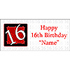 PERSONALIZED  16 YEAR OLD BANNER PARTY SUPPLIES