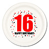 16TH BIRTHDAY DINNER PLATE 8-PKG PARTY SUPPLIES