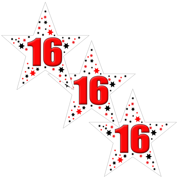 16TH BIRTHDAY STAR DECO FETTI PARTY SUPPLIES