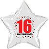 16TH BIRTHDAY STAR BALLOON PARTY SUPPLIES