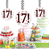 17! DANGLER DECORATION 3/PKG PARTY SUPPLIES