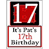 PERSONALIZED 17 YEAR OLD YARD SIGN PARTY SUPPLIES