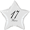 17 YEARS CLASSY BLACK STAR BALLOON PARTY SUPPLIES