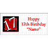 PERSONALIZED  17 YEAR OLD BANNER PARTY SUPPLIES