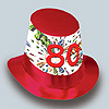 DISCONTINUED 80TH BIRTHDAY HI HAT PARTY SUPPLIES