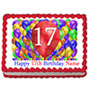 17TH BIRTHDAY BALLOON BLAST EDIBLE IMAGE PARTY SUPPLIES