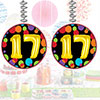 17TH BIRTHDAY BALLOON DANGLER PARTY SUPPLIES