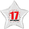17TH BIRTHDAY STAR BALLOON PARTY SUPPLIES