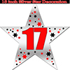 17TH SILVER STAR DECORATION PARTY SUPPLIES