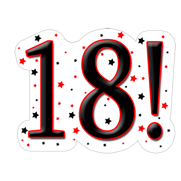 18! DECORATION (15X22 IN.) PARTY SUPPLIES