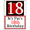 PERSONALIZED 18 YEAR OLD YARD SIGN PARTY SUPPLIES