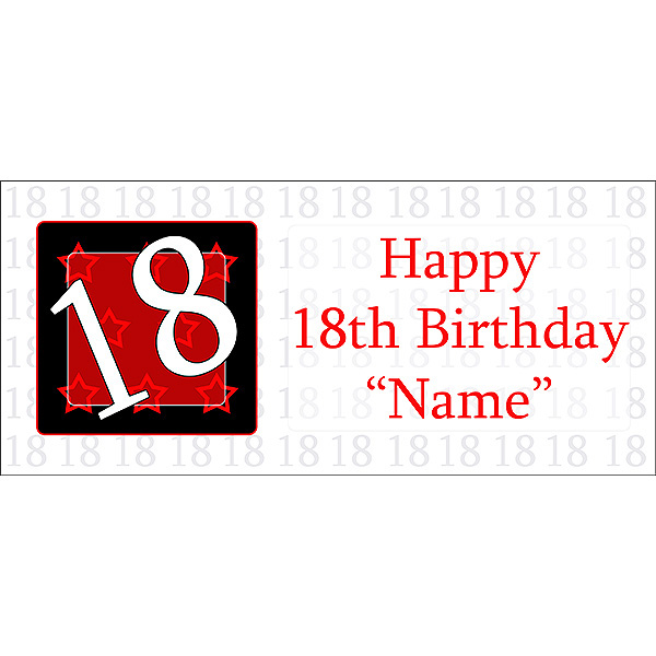 Click For Larger Picture Of PERSONALIZED 18 YEAR OLD BANNER PARTY SUPPLIES