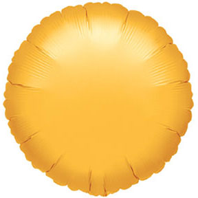 Click for larger picture of GOLD ROUND MYLAR BALLOON PARTY SUPPLIES