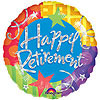 DISCONTINUED HAPPY RETIREMENT MYLAR 18