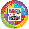 18IN AGE TO PERFECTION MYLAR(5/CS) PARTY SUPPLIES