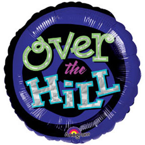 OH NO! OVER THE HILL MYLAR BALLOON PARTY SUPPLIES
