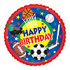 DISCONTINUED SPORTS BIRTHDAY MYLAR PARTY SUPPLIES
