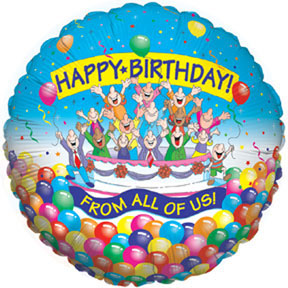 HAPPY BIRTHDAY FROM ALL OF US MYLAR PARTY SUPPLIES