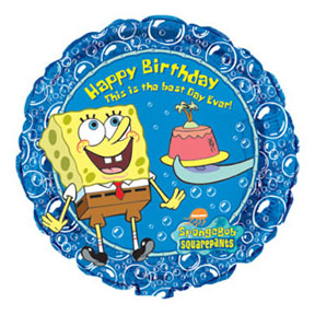 Click for larger picture of 18IN HAPPY BD SPONGEBOB SQUAREPANTS-5/CS PARTY SUPPLIES