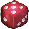 18IN DICE MYLAR 10/CASE PARTY SUPPLIES