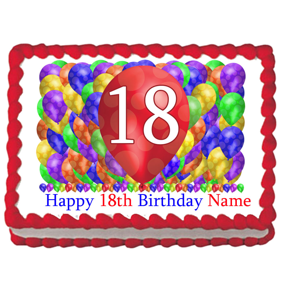Click For Larger Picture Of 18TH BIRTHDAY BALLOON BLAST EDIBLE IMAGE PARTY SUPPLIES