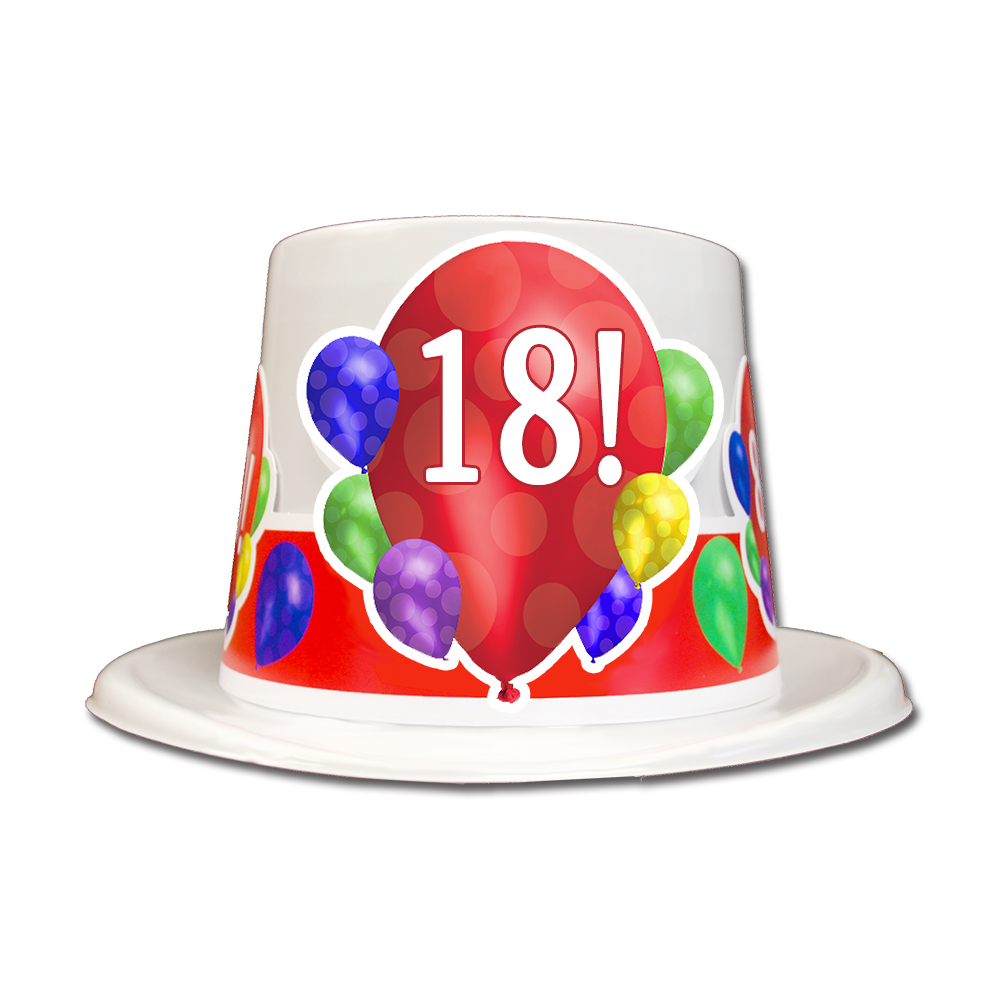 Click For Larger Picture Of 18TH BIRTHDAY BALLOON BLAST TOP HAT PARTY SUPPLIES