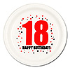 18TH BIRTHDAY DINNER PLATE 8-PKG PARTY SUPPLIES