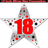 18TH SILVER STAR DECORATION PARTY SUPPLIES