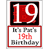 PERSONALIZED 19 YEAR OLD YARD SIGN PARTY SUPPLIES