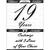 19 YEARS CLASSY BLACK DOOR BANNER PARTY SUPPLIES