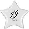 19 YEARS CLASSY BLACK STAR BALLOON PARTY SUPPLIES
