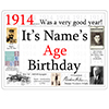 1914 CUSTOMIZED DOOR POSTER PARTY SUPPLIES