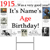 1915 PERSONALIZED YARD SIGN PARTY SUPPLIES