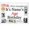 1916 CUSTOMIZED DOOR POSTER PARTY SUPPLIES
