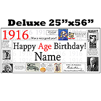 1916 DELUXE PERSONALIZED BANNER PARTY SUPPLIES