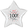 1917 - 100TH BIRTHDAY STAR BALLOON PARTY SUPPLIES