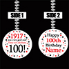 1917 100TH BIRTHDAY CUSTOMIZED DANGLER PARTY SUPPLIES