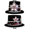 1917 - 100TH BIRTHDAY BLACK TOP HAT PARTY SUPPLIES