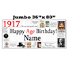1917 JUMBO PERSONALIZED BANNER PARTY SUPPLIES
