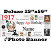 1917 CUSTOM PHOTO DELUXE BANNER PARTY SUPPLIES