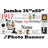 1917 CUSTOM PHOTO JUMBO BANNER PARTY SUPPLIES